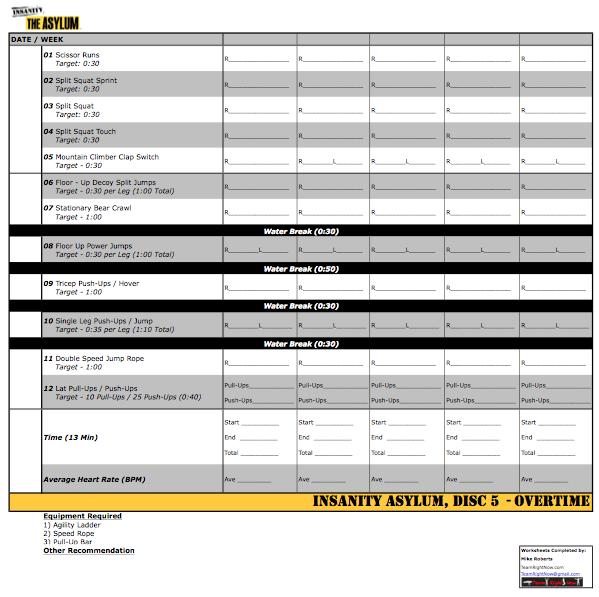 AsylumOvertime Preview – Insanity Worksheets