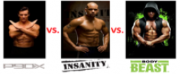 P90X vs. Insanity vs. Body Beast