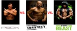 P90X vs. Insanity vs. Body Beast